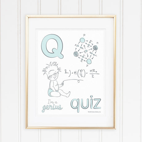 Genius Series Art Print - Letter Q