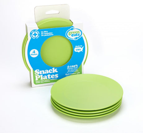 Green Eats BPA-free Snack Plate 4 Pack