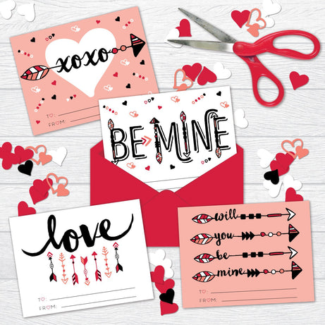 Be Mine Valentine Cards - Printable Download