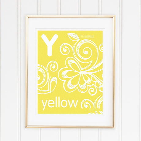 Genius Series Art Print - Letter Y