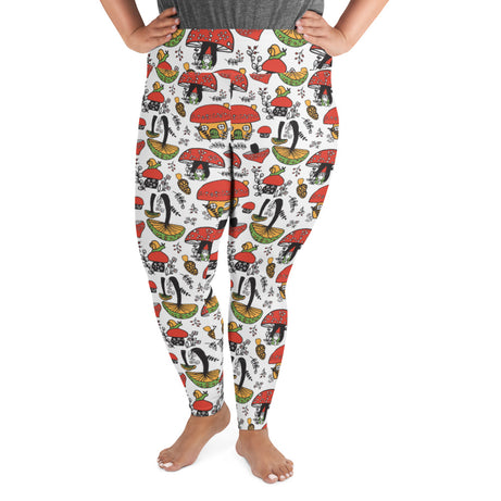 Doodles Collection Adult Plus Size Leggings - SHROOMazing