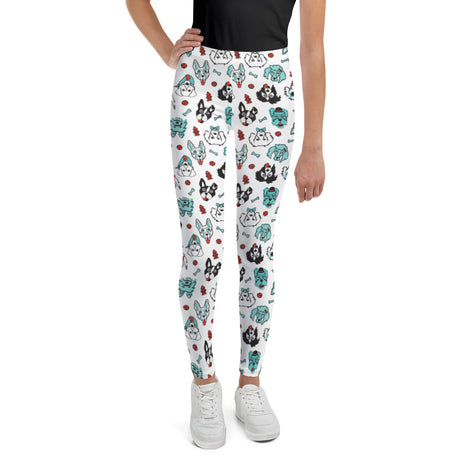 Doodles Collection Big Kid Leggings - Pawsome