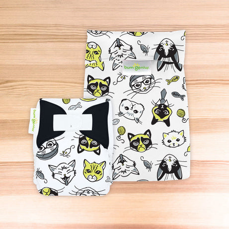 bumGenius Littles™ 1.0 - Newborn Cloth Diaper - The Doodles Collection