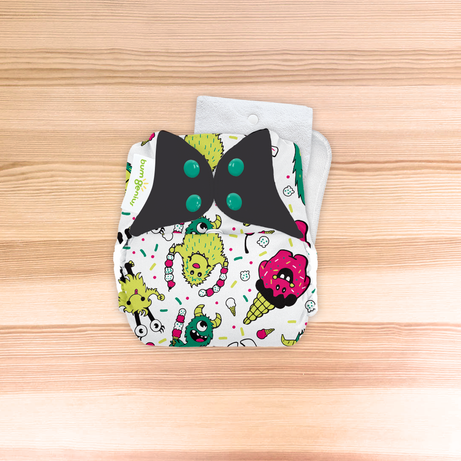 bumGenius Original One-Size Cloth Diaper 5.0 - The Doodles Collection SINGLES
