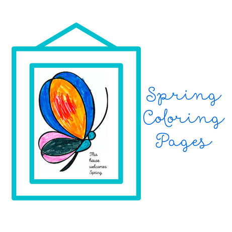 Free Download -Spring Coloring Pages