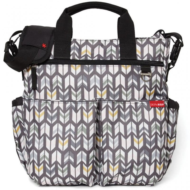 NEW SKIP HOP HEATHER GREY SIGNATURE BABY MATERNITY CHANGING BAG /& ACCESSORIES