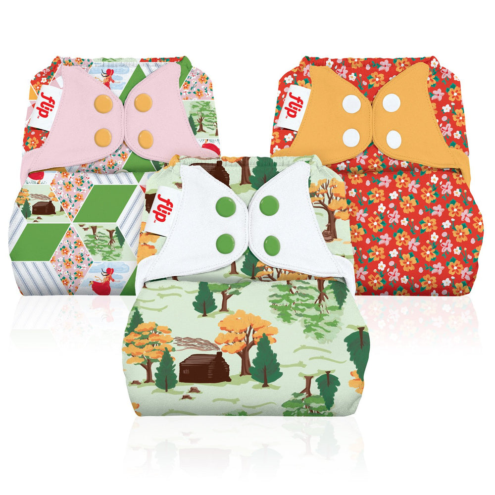 SECONDS: Flip Diapers One-Size Cover - Little House in the Big Woods Collection - shop all