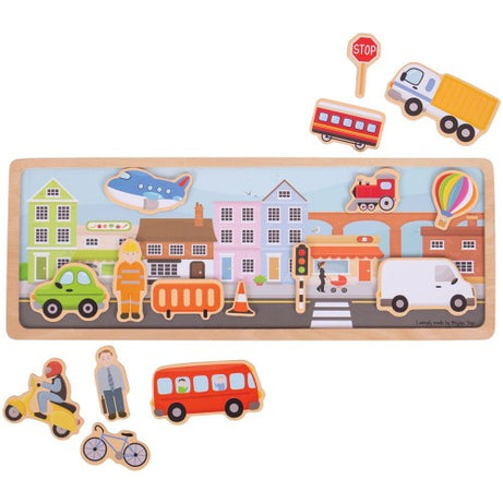 Bigjigs Toys Magnetic Story Board - City