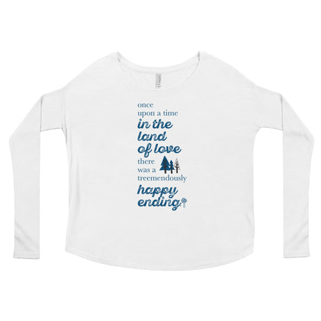 Doodles Collection Womens Long Sleeve Tee - TREEmendous Happy Ending