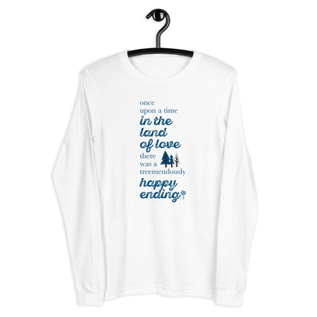 Doodles Collection Adult Long Sleeve Tee - TREEmendous Happy Ending