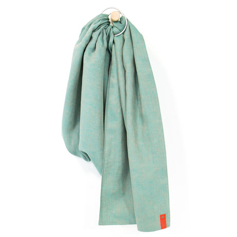 Sakura Bloom Chambray Linen Baby Sling - Spearmint