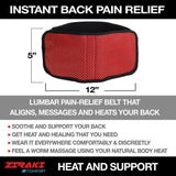 Adjustable Lumbar Lower Back Support Massage Brace Self-heating