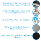4-IN-1 Memory Foam Wheelchair Seat Cushion With Cooling Gelfor Coccyx & Back Support