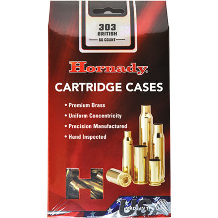 Hornady 303 british unprimed brass 50pkt