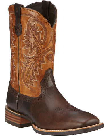 Ariat Mens QuickDraw Boots Thunder Brown