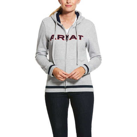 Ariat Ladies Logo Full Zip Hoodie