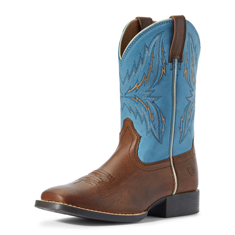 Ariat Kids Arena Rebound Billy Brown/Wild Blue Boot