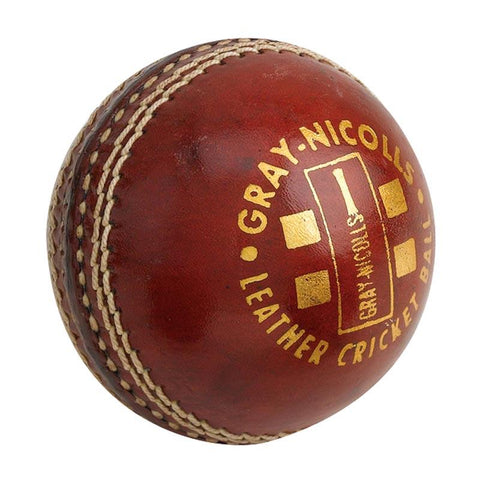 Gray Nicolls Club 2 Pce Red Leather Cricket Ball 156gram