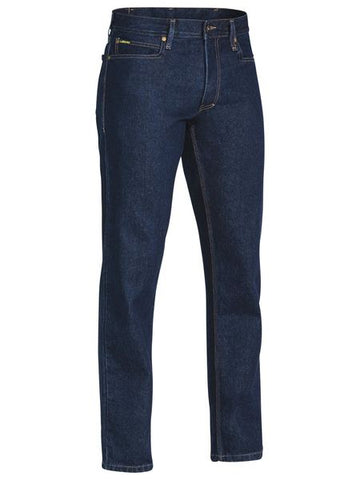 Bisley Mens BP6053 Industrial Straight Leg Denim Work Jean