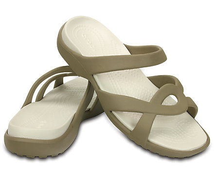 Crocs Ladies Meleen Twist sandal Khaki/Oyster