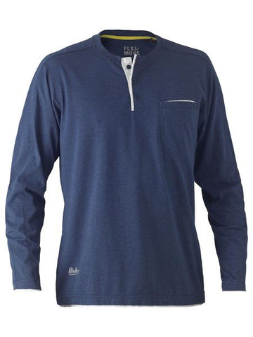 Bisley Flex N Move Henley Long Sleeved T shirt