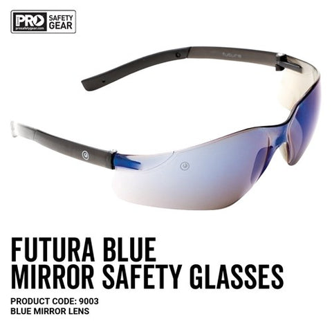 Prochoice® Futura Safety Glasses Blue Mirror Lens