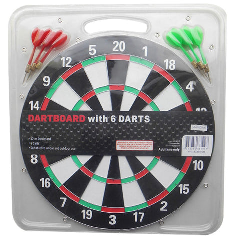 "Formula Sports 15"" Paper Dartboard with 6 darts"