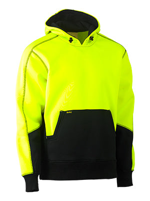 Bisley Hi Vis Two Tone Fleece Pull Over Hoodie