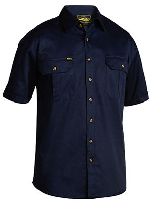 Bisley BS1433 Mens Original Cotton Drill Shirt Short Sleeve