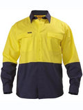 Bisley BS6267 Mens 2 tone Hi Vis Drill shirt long sleeve