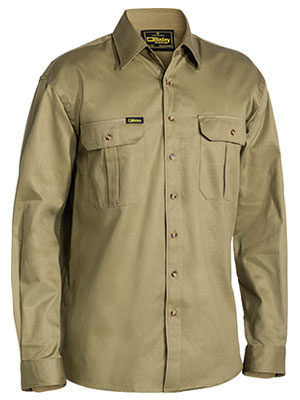 Bisley BS6433 Mens Original Cotton Long Sleeve Drill Shirt