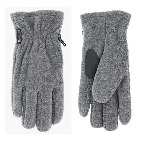 Thinsulate Grey Polar Fleece Gloves