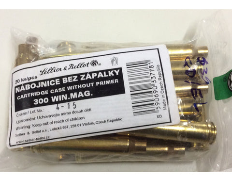 Sellier & Bellot 300Win Mag brass 20pkt