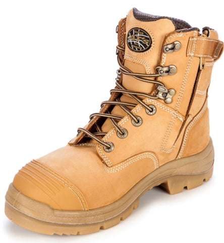 Oliver - AT 55332Z Lace Up Zip Side Steel toe Boot
