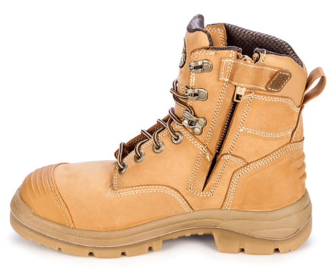 13d0420d338 Oliver - AT 55332Z Lace Up Zip Side Steel toe Boot – Lemmons Store