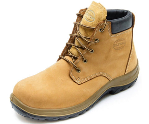 Oliver - 34632 WB 34 Series Lace Up steel toe Boot Wheat