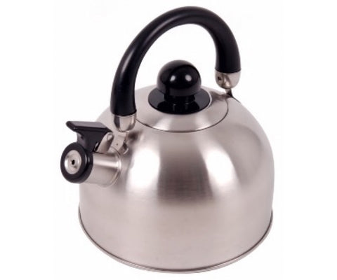 Oztrail stainless steel 2.5L whistling kettle