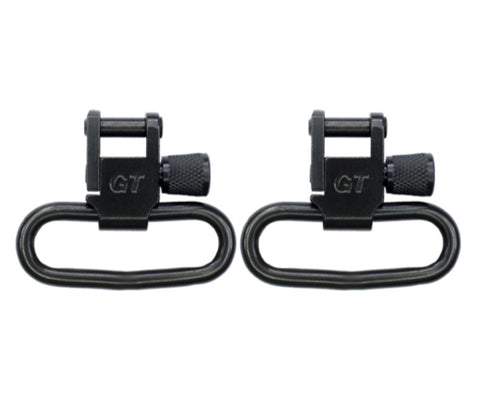 "Grovtec GTSW-02 black oxide locking swivels fits 1 1/4"" 31mm slings"