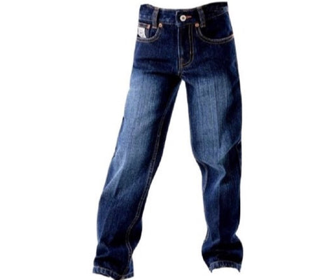 Cinch Boys Western Denim Jeans Slim White Label Dark Indigo 8S - 18S.