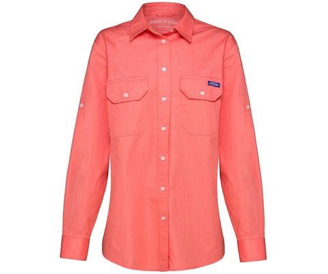 RM Williams Ladies Stockyard Ashville Shirt Shell Pink