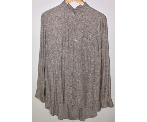 RM Williams Ladies long sleeved Joan shirt grey with maroon pattern