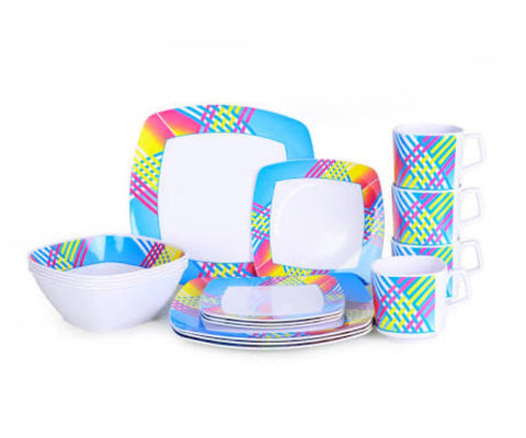 Oztrail 16 piece Malemine dinner set