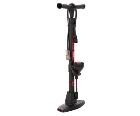 Zero plastic floor bike pump