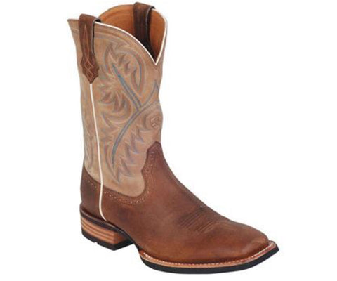 Ariat mens QuickDraw boot Tumbled Bark/Beige