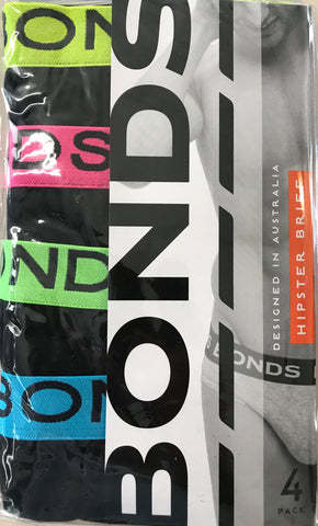 Bonds Mens Hipster Brief 4 pack