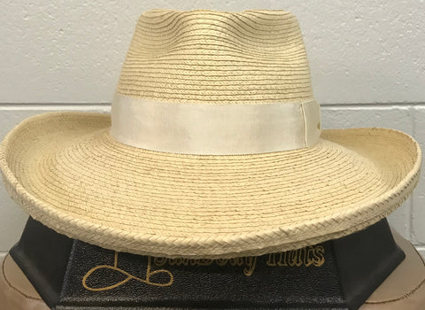 "Sunbody Plantation Crease Palm leaf hat  4"" brim"