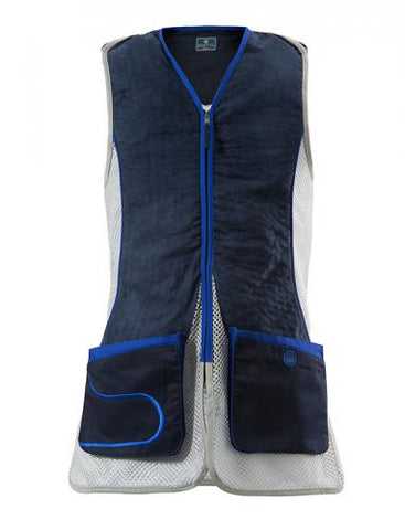 Beretta Mens DT11 Shooting Vest Blue Navy & Silver