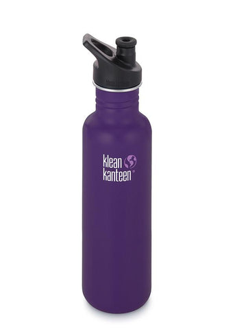 Klean Kanteen Classic 800ml non insulated sport cap 3.0 water bottle