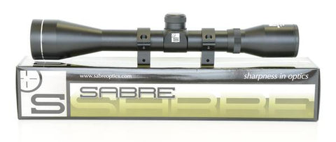 Sabre Accent 4X32mm rifle scope with dovetail rings