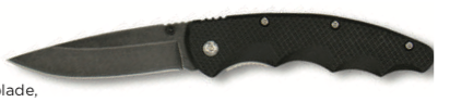 Brown Dog Lock blade folding knife with clip